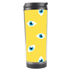 Eye Blue White Yellow Monster Sexy Image Travel Tumbler by Mariart