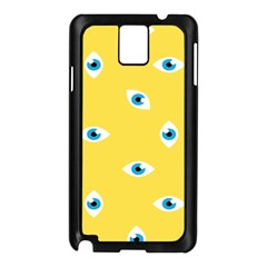 Eye Blue White Yellow Monster Sexy Image Samsung Galaxy Note 3 N9005 Case (black) by Mariart