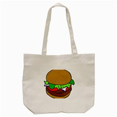 Fast Food Lunch Dinner Hamburger Cheese Vegetables Bread Tote Bag (cream) by Mariart