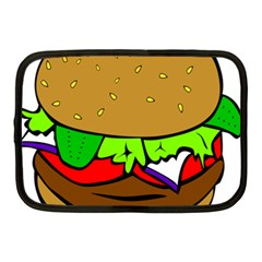 Fast Food Lunch Dinner Hamburger Cheese Vegetables Bread Netbook Case (medium)  by Mariart
