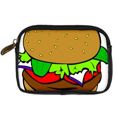 Fast Food Lunch Dinner Hamburger Cheese Vegetables Bread Digital Camera Cases by Mariart
