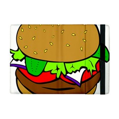Fast Food Lunch Dinner Hamburger Cheese Vegetables Bread Apple Ipad Mini Flip Case by Mariart