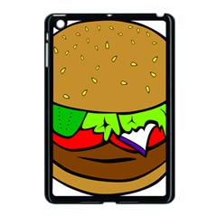 Fast Food Lunch Dinner Hamburger Cheese Vegetables Bread Apple Ipad Mini Case (black) by Mariart