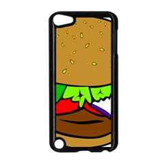 Fast Food Lunch Dinner Hamburger Cheese Vegetables Bread Apple Ipod Touch 5 Case (black) by Mariart
