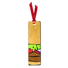 Fast Food Lunch Dinner Hamburger Cheese Vegetables Bread Small Book Marks by Mariart