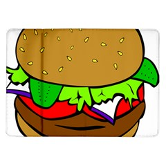 Fast Food Lunch Dinner Hamburger Cheese Vegetables Bread Samsung Galaxy Tab 10 1  P7500 Flip Case