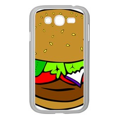 Fast Food Lunch Dinner Hamburger Cheese Vegetables Bread Samsung Galaxy Grand Duos I9082 Case (white) by Mariart