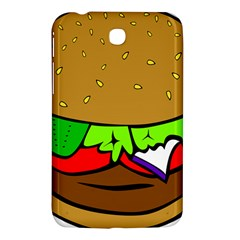 Fast Food Lunch Dinner Hamburger Cheese Vegetables Bread Samsung Galaxy Tab 3 (7 ) P3200 Hardshell Case