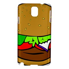 Fast Food Lunch Dinner Hamburger Cheese Vegetables Bread Samsung Galaxy Note 3 N9005 Hardshell Case