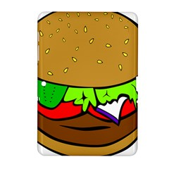 Fast Food Lunch Dinner Hamburger Cheese Vegetables Bread Samsung Galaxy Tab 2 (10 1 ) P5100 Hardshell Case  by Mariart