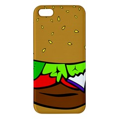 Fast Food Lunch Dinner Hamburger Cheese Vegetables Bread Iphone 5s/ Se Premium Hardshell Case by Mariart