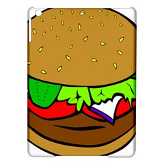 Fast Food Lunch Dinner Hamburger Cheese Vegetables Bread Ipad Air Hardshell Cases by Mariart