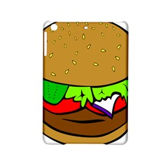 Fast Food Lunch Dinner Hamburger Cheese Vegetables Bread Ipad Mini 2 Hardshell Cases by Mariart