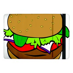 Fast Food Lunch Dinner Hamburger Cheese Vegetables Bread Samsung Galaxy Tab Pro 10 1  Flip Case by Mariart