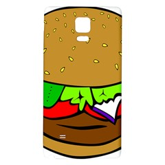 Fast Food Lunch Dinner Hamburger Cheese Vegetables Bread Galaxy Note 4 Back Case by Mariart