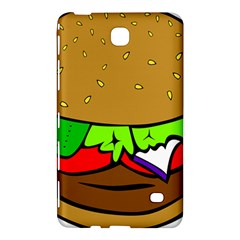 Fast Food Lunch Dinner Hamburger Cheese Vegetables Bread Samsung Galaxy Tab 4 (8 ) Hardshell Case  by Mariart
