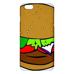 Fast Food Lunch Dinner Hamburger Cheese Vegetables Bread Iphone 6 Plus/6s Plus Tpu Case by Mariart