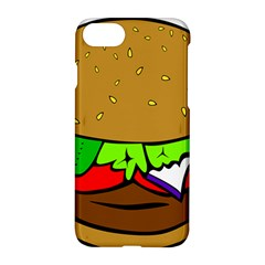 Fast Food Lunch Dinner Hamburger Cheese Vegetables Bread Apple Iphone 7 Hardshell Case by Mariart