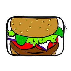 Fast Food Lunch Dinner Hamburger Cheese Vegetables Bread Apple Macbook Pro 17  Zipper Case