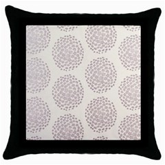Flower Floral Star Sakura Purple Throw Pillow Case (black) by Mariart