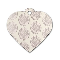 Flower Floral Star Sakura Purple Dog Tag Heart (one Side) by Mariart