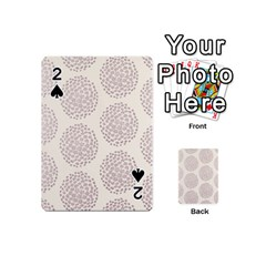Flower Floral Star Sakura Purple Playing Cards 54 (mini)  by Mariart