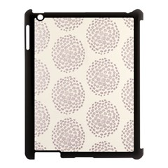 Flower Floral Star Sakura Purple Apple Ipad 3/4 Case (black) by Mariart