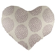 Flower Floral Star Sakura Purple Large 19  Premium Heart Shape Cushions by Mariart