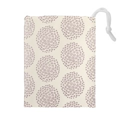 Flower Floral Star Sakura Purple Drawstring Pouches (extra Large) by Mariart