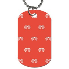 Glasses Disco Retina Red White Line Dog Tag (two Sides)