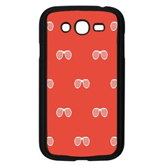 Glasses Disco Retina Red White Line Samsung Galaxy Grand Duos I9082 Case (black) by Mariart
