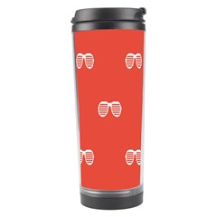 Glasses Disco Retina Red White Line Travel Tumbler by Mariart