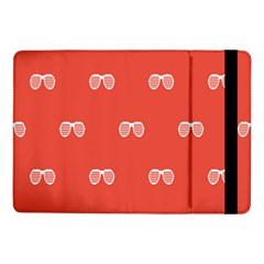 Glasses Disco Retina Red White Line Samsung Galaxy Tab Pro 10 1  Flip Case by Mariart