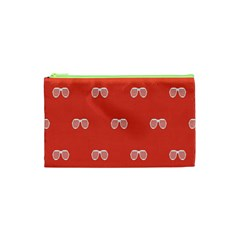 Glasses Disco Retina Red White Line Cosmetic Bag (xs) by Mariart