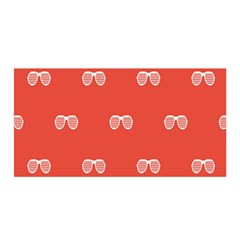 Glasses Disco Retina Red White Line Satin Wrap by Mariart