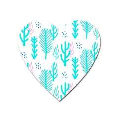 Forest Drop Blue Pink Polka Circle Heart Magnet by Mariart