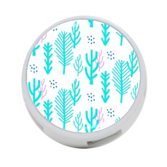Forest Drop Blue Pink Polka Circle 4 Port Usb Hub (two Sides)  by Mariart