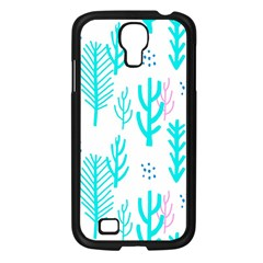 Forest Drop Blue Pink Polka Circle Samsung Galaxy S4 I9500/ I9505 Case (black) by Mariart