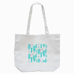 Forest Drop Blue Pink Polka Circle Tote Bag (white) by Mariart