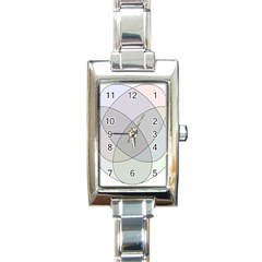Four Way Venn Diagram Circle Rectangle Italian Charm Watch by Mariart