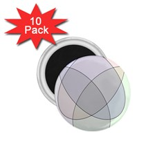 Four Way Venn Diagram Circle 1 75  Magnets (10 Pack)  by Mariart
