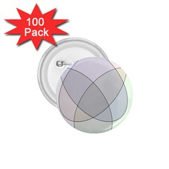 Four Way Venn Diagram Circle 1 75  Buttons (100 Pack)  by Mariart