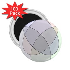 Four Way Venn Diagram Circle 2 25  Magnets (100 Pack)  by Mariart