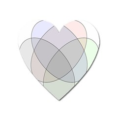 Four Way Venn Diagram Circle Heart Magnet by Mariart