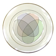 Four Way Venn Diagram Circle Porcelain Plates by Mariart