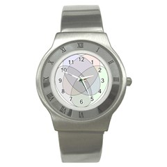 Four Way Venn Diagram Circle Stainless Steel Watch by Mariart