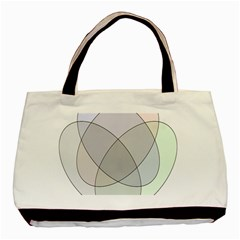 Four Way Venn Diagram Circle Basic Tote Bag by Mariart
