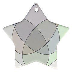 Four Way Venn Diagram Circle Star Ornament (two Sides) by Mariart