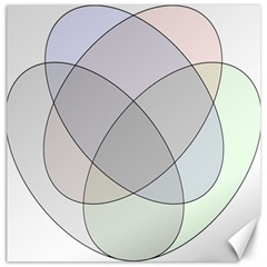 Four Way Venn Diagram Circle Canvas 12  X 12   by Mariart