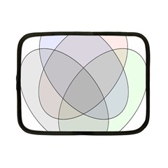Four Way Venn Diagram Circle Netbook Case (small)  by Mariart